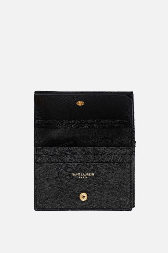 SAINT LAURENT: Monogram quilted leather card case Color Black_2
