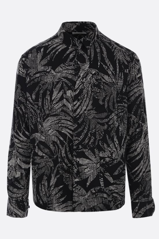 SAINT LAURENT: printed viscose shirt Color Black_1