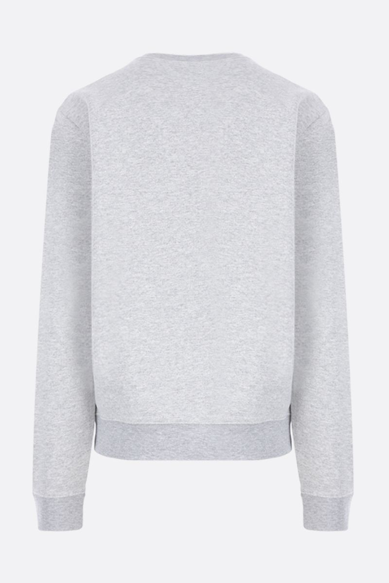 SAINT LAURENT: Malibu print cotton blend sweatshirt Color Grey_2
