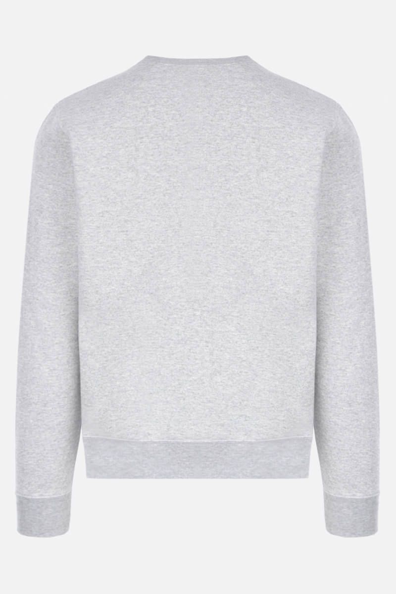 SAINT LAURENT: Malibu print jersey sweatshirt Color Grey_2