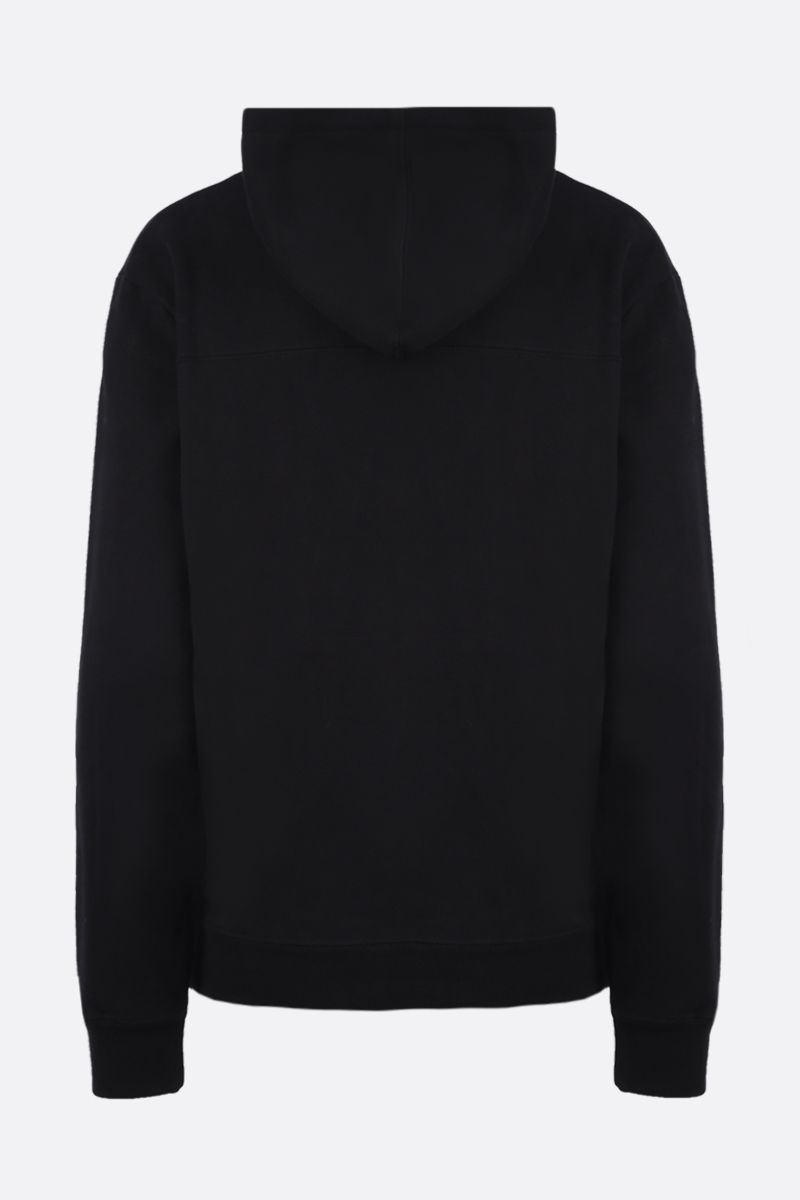 SAINT LAURENT: Saint Laurent print cotton hoodie Color Black_2