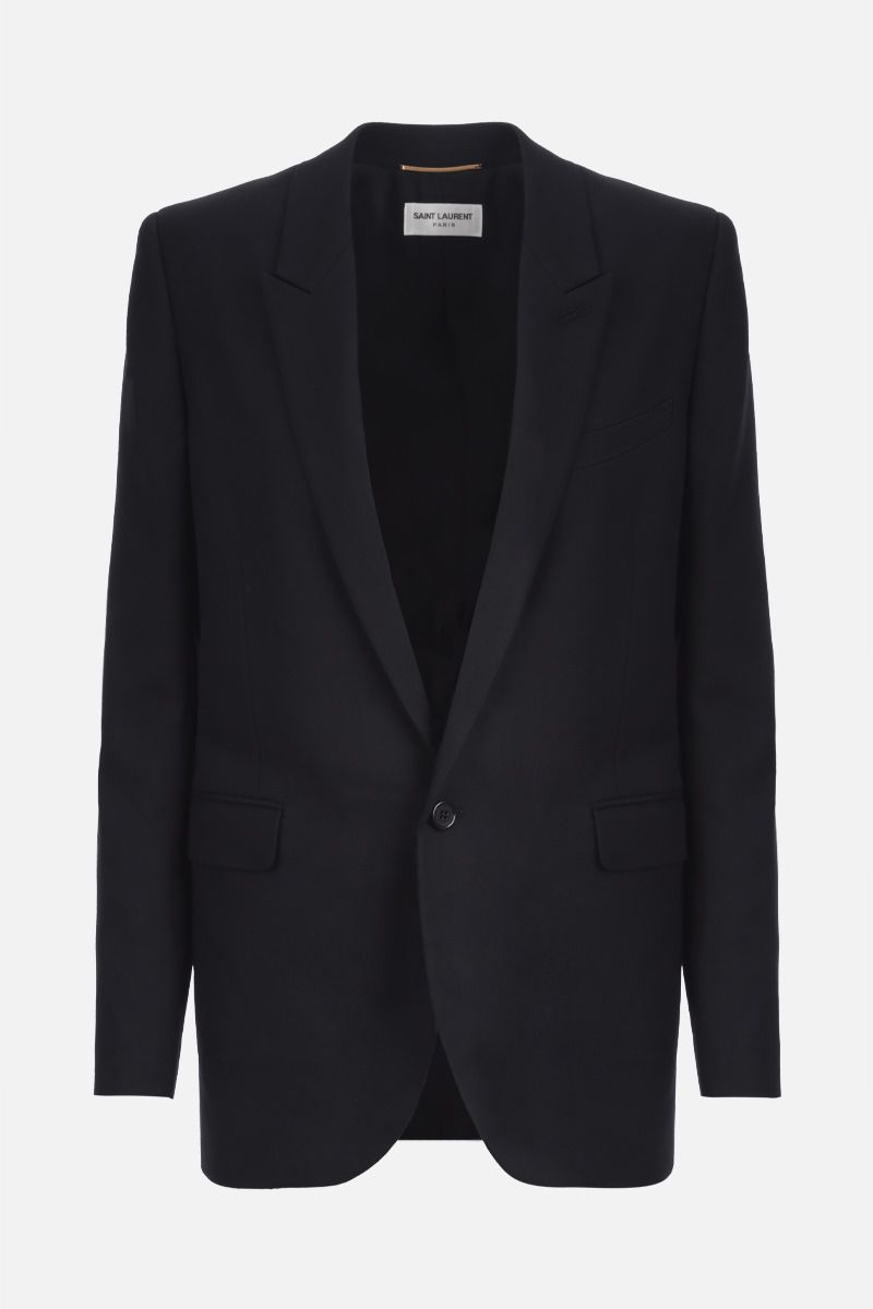 SAINT LAURENT: wool single-breasted  jacket Color Black_1