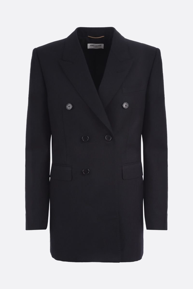SAINT LAURENT: wool double-breasted jacket Color Black_1
