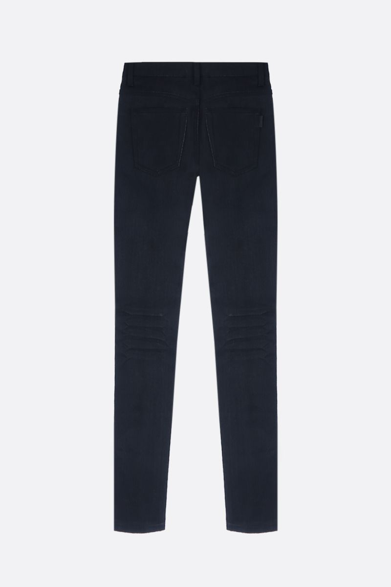 SAINT LAURENT: mid-rise skinny jeans Color Black_2