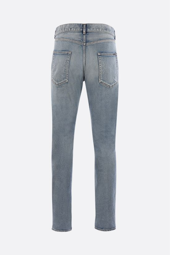SAINT LAURENT: distressed-effect skinny-fit jeans Color Blue_2