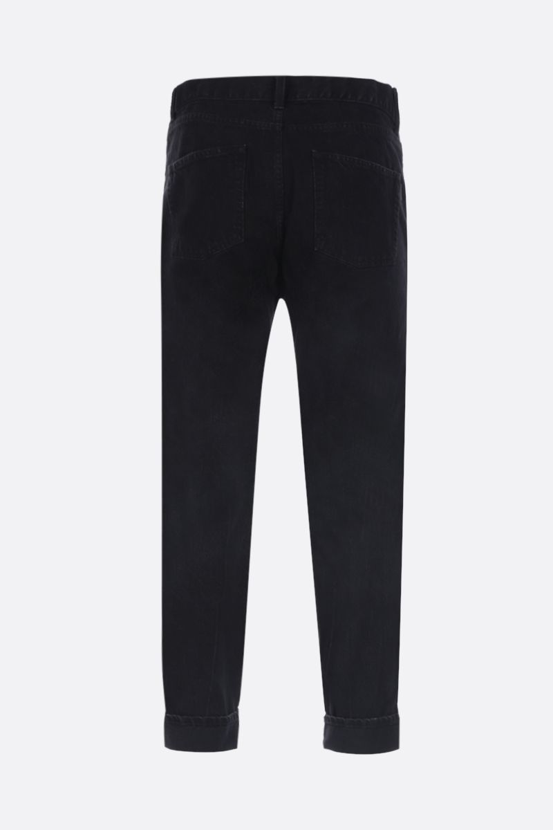SAINT LAURENT: straight-leg cropped jeans Color Black_2