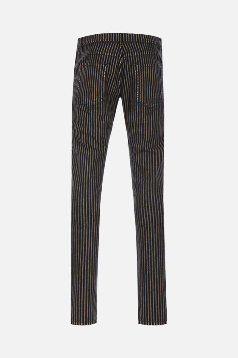 SAINT LAURENT: jeans skinny a righe Colore Multicolore_2