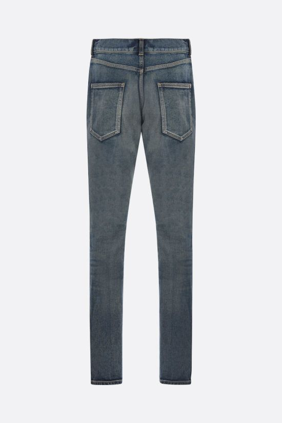 SAINT LAURENT: skinny-fit jeans Color Blue_2