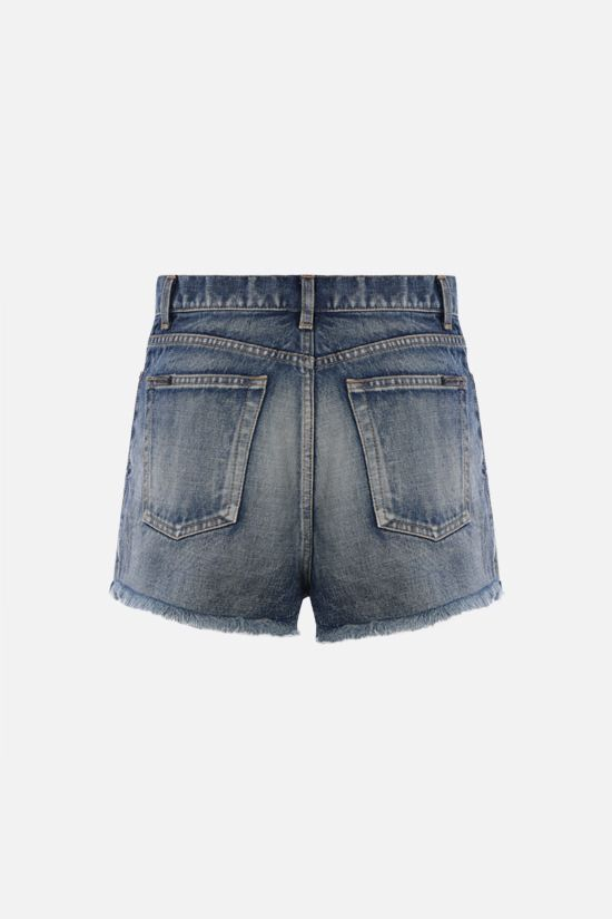 SAINT LAURENT: denim shorts Color Blue_2