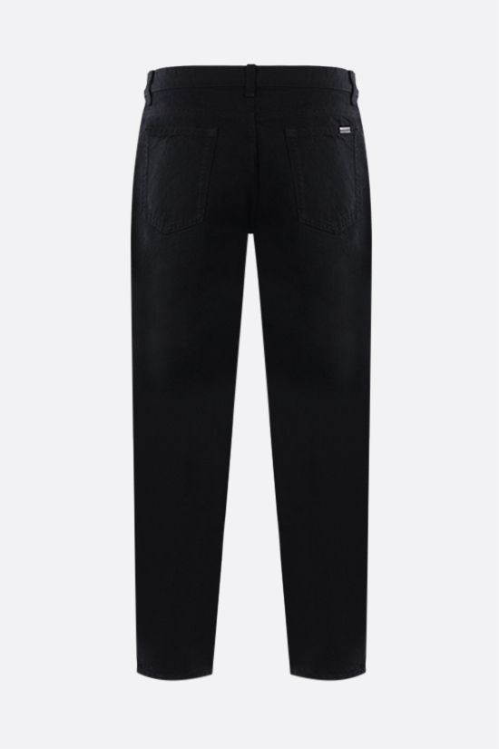 SAINT LAURENT: cropped baggy-fit jeans Color Black_2