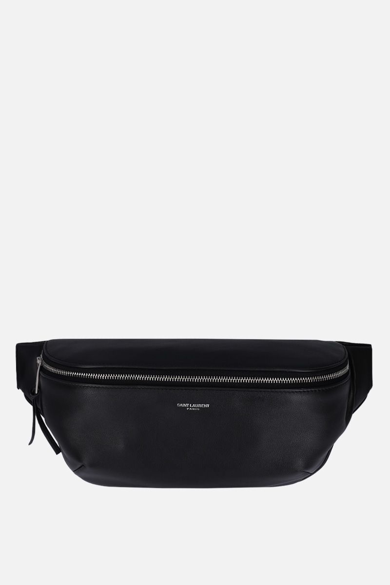 SAINT LAURENT: soft leather belt bag Color Black_1