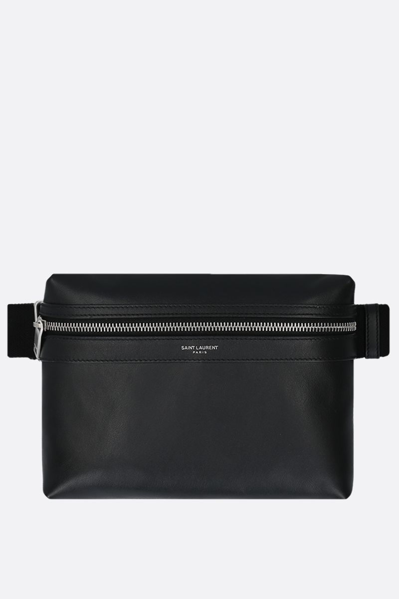 SAINT LAURENT: City smooth leather camera bag Color Black_1