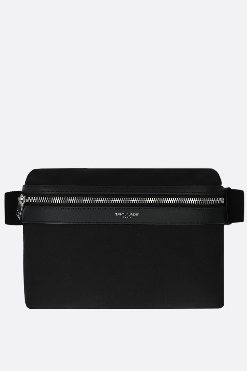 SAINT LAURENT: marsupio City in nylon Colore Nero_1