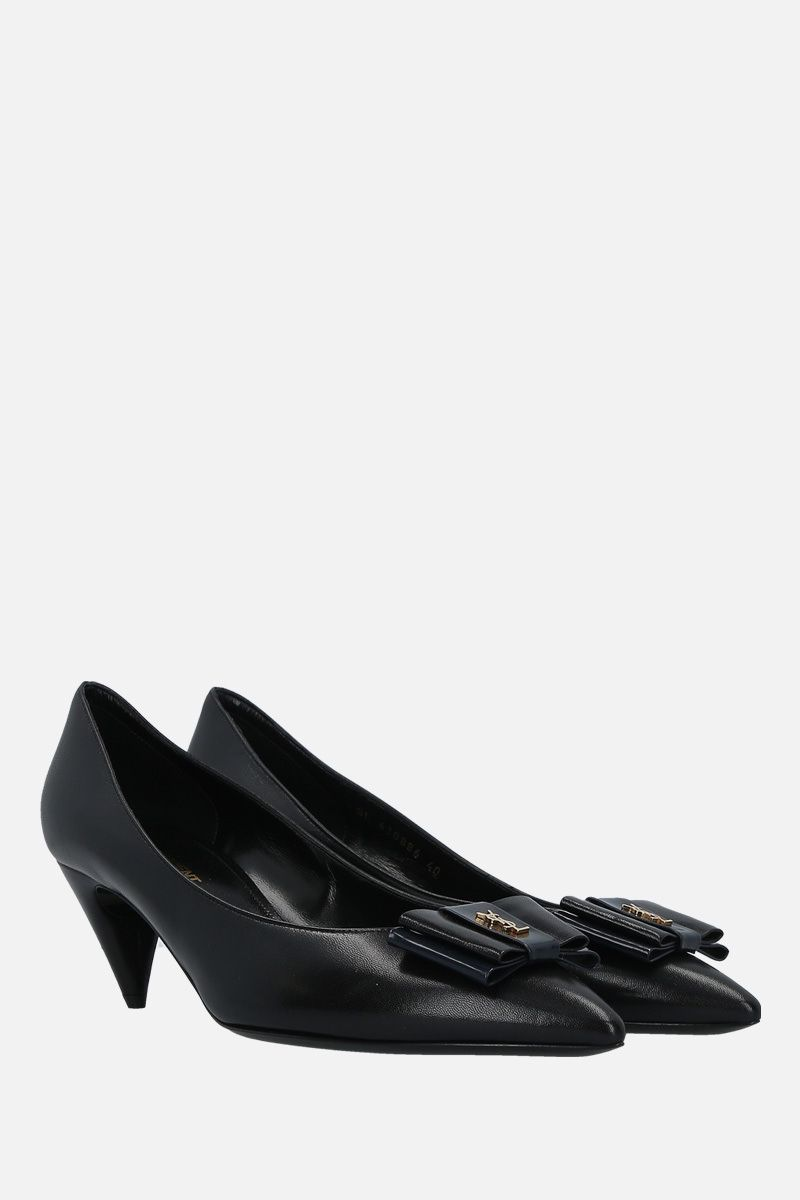 SAINT LAURENT: Anais smooth leather pumps Color Black_2