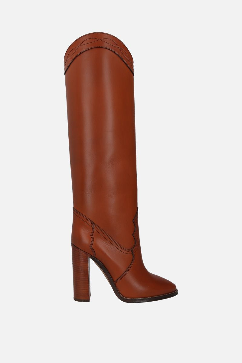 SAINT LAURENT: Kate smooth leather boots_1