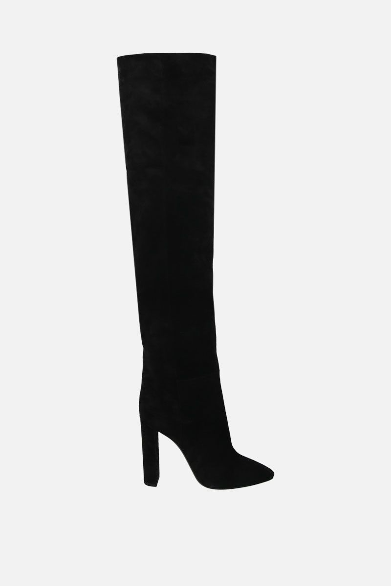 SAINT LAURENT: 76 suede over-the-knee boots Color Black_1