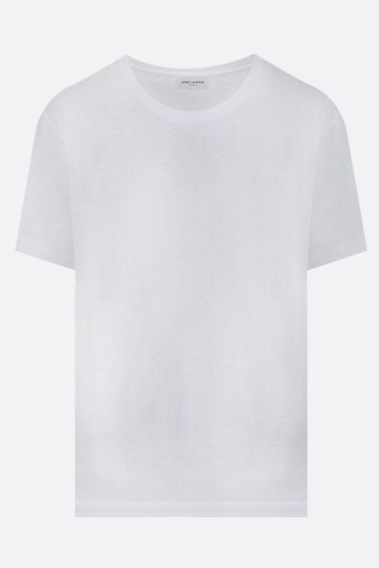 SAINT LAURENT: basic cotton t-shirt Color Brown_1