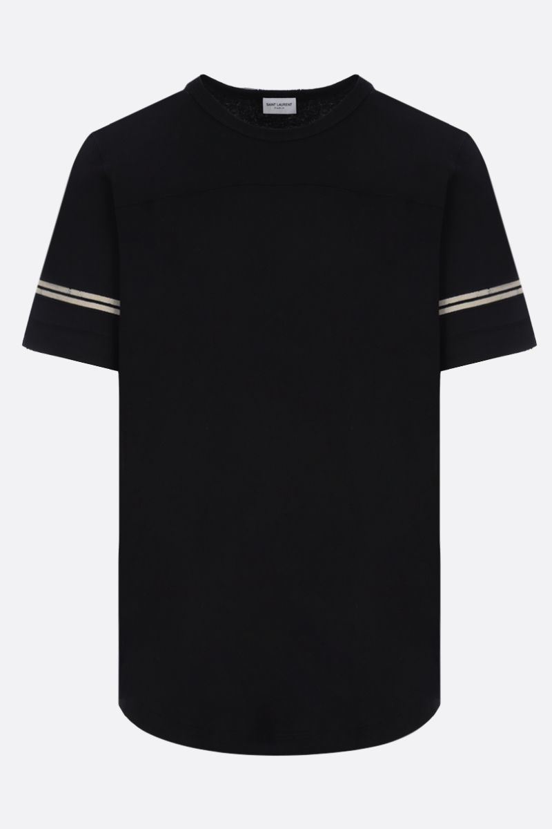 SAINT LAURENT: Saint Laurent print cotton t-shirt Color White_1