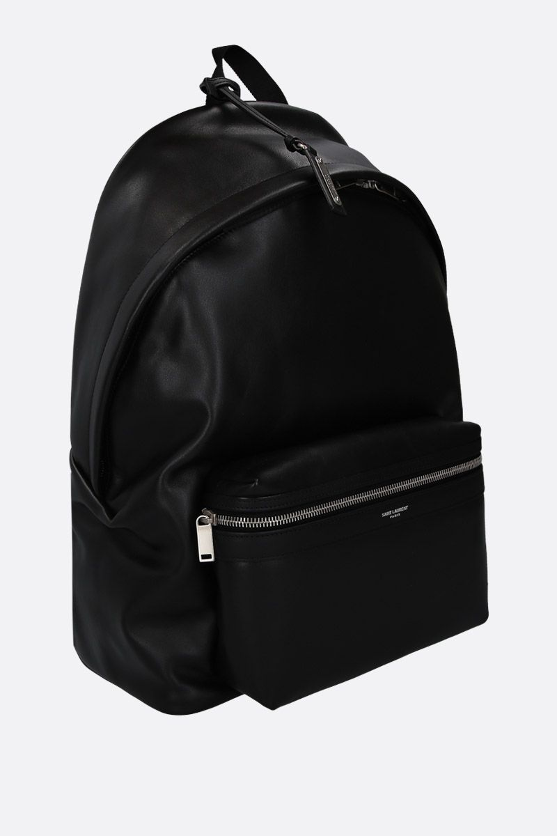 SAINT LAURENT: City matte leather backpack Color Black_2