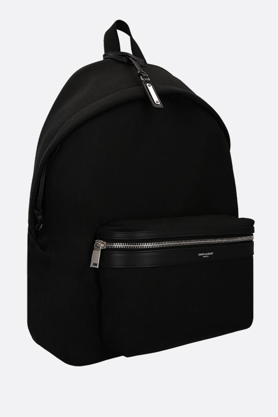 SAINT LAURENT: City canvas backpack Color Black_2