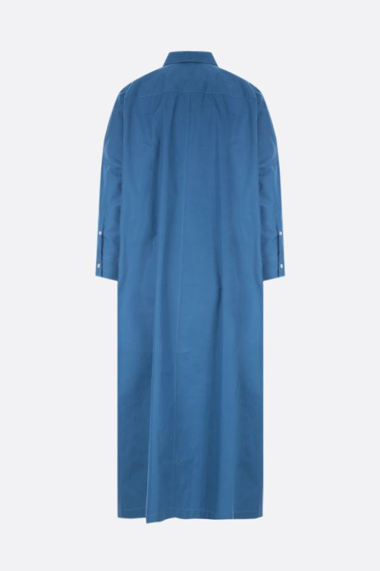 JIL SANDER: oversize poplin shirt dress Color Blue_2