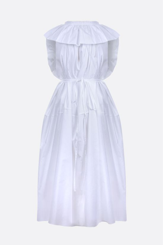 JIL SANDER: belt-detailed cotton sleeveless dress Color White_2