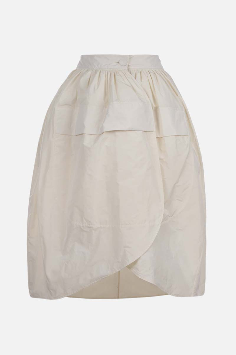 JIL SANDER: taffetà wrap skirt Color White_2