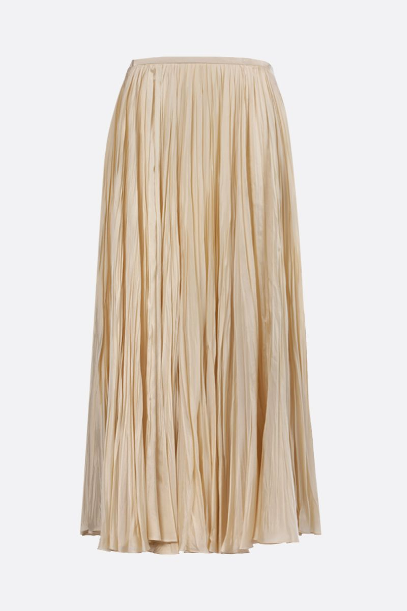 JIL SANDER: twill pleated skirt Color Neutral_2