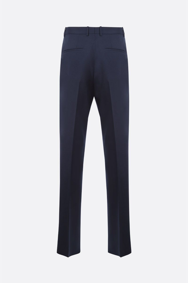 JIL SANDER: wool regular-fit pants Color Blue_2