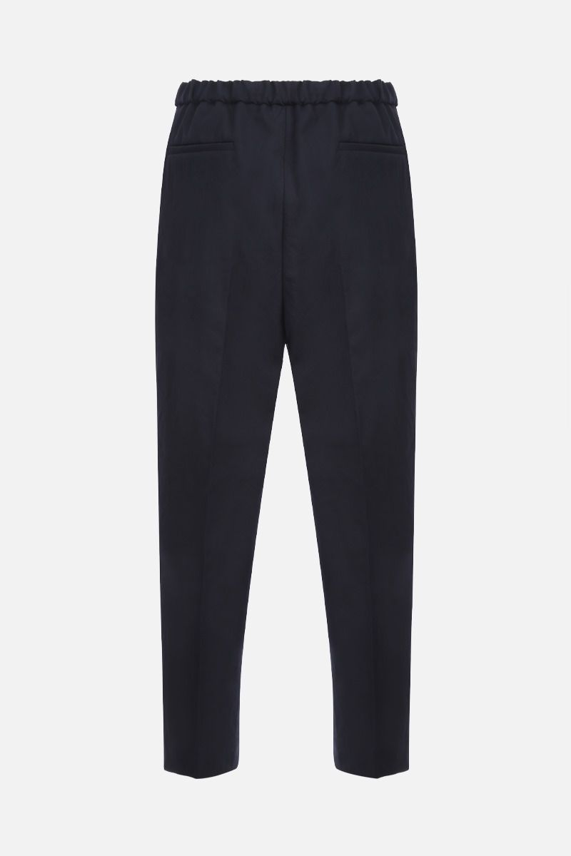 JIL SANDER: cotton cropped pants Color Blue_2