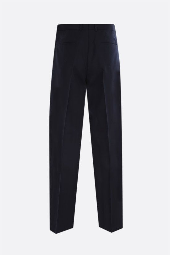 JIL SANDER: slim-fit wool pants Color Blue_2