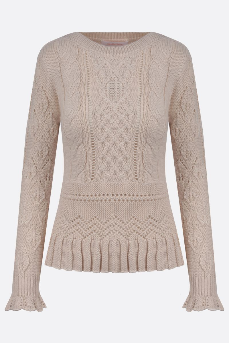 SEE BY CHLOÈ: wool blend pullover Color White_1