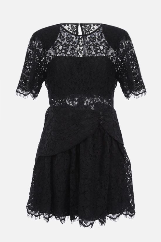 SELF PORTRAIT: cord lace minidress Color Black_1