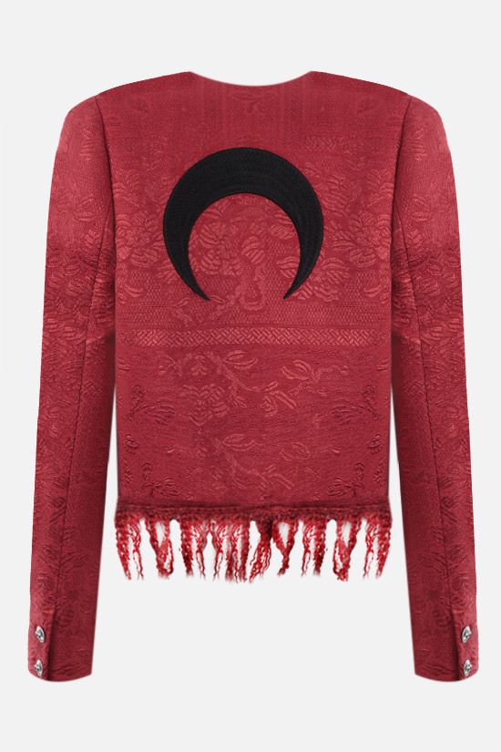 MARINE SERRE: recycled fabric cropped jacket Color Red_2