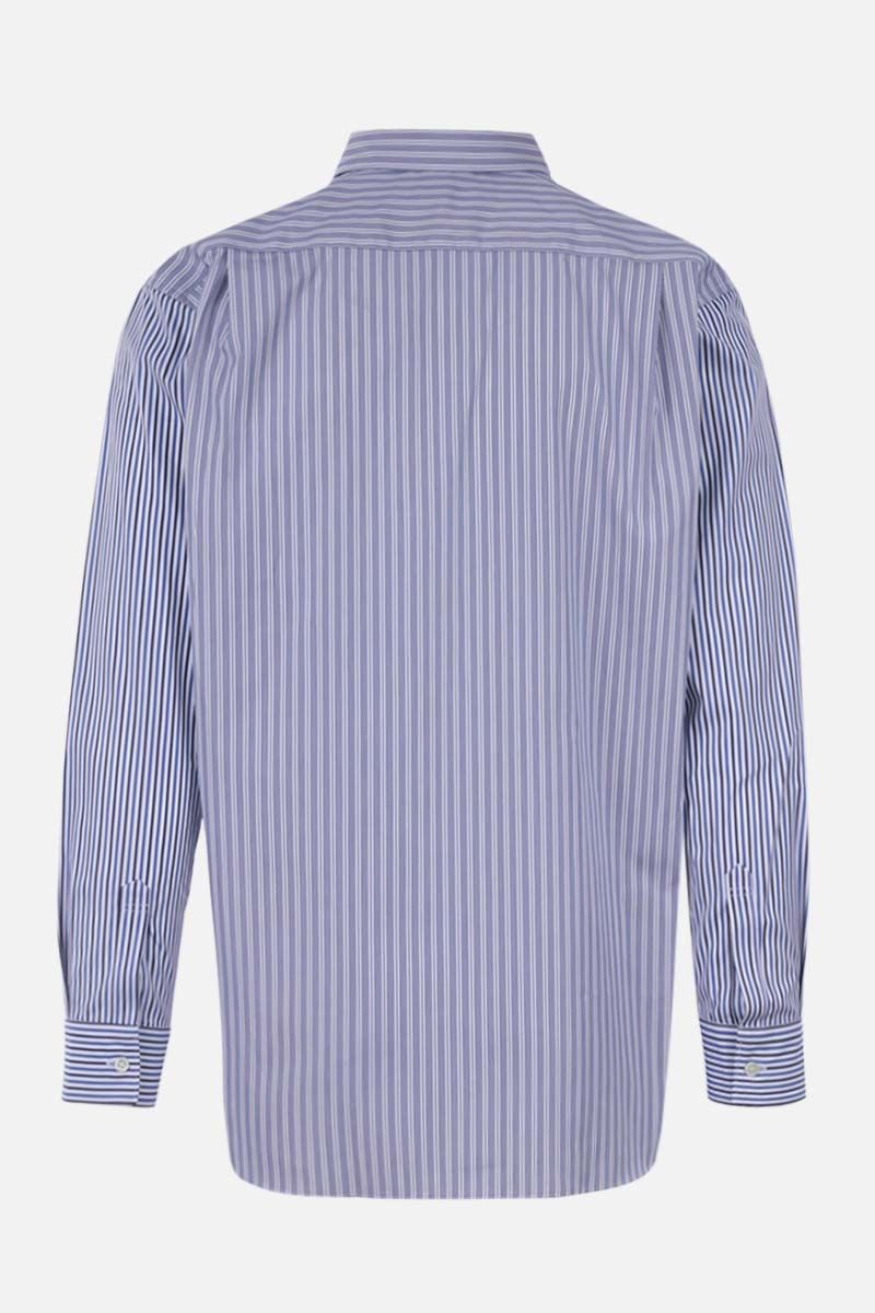 COMME des GARCONS SHIRT: striped cotton shirt Color Blue_2