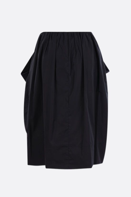 SIMONE ROCHA: bow-detailed cotton midi skirt Color Black_2