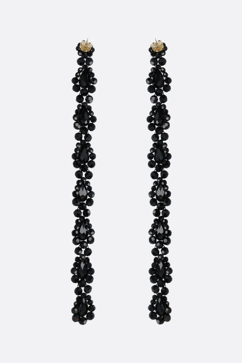 SIMONE ROCHA: crystal-embellished brass extralong drop earrings_2