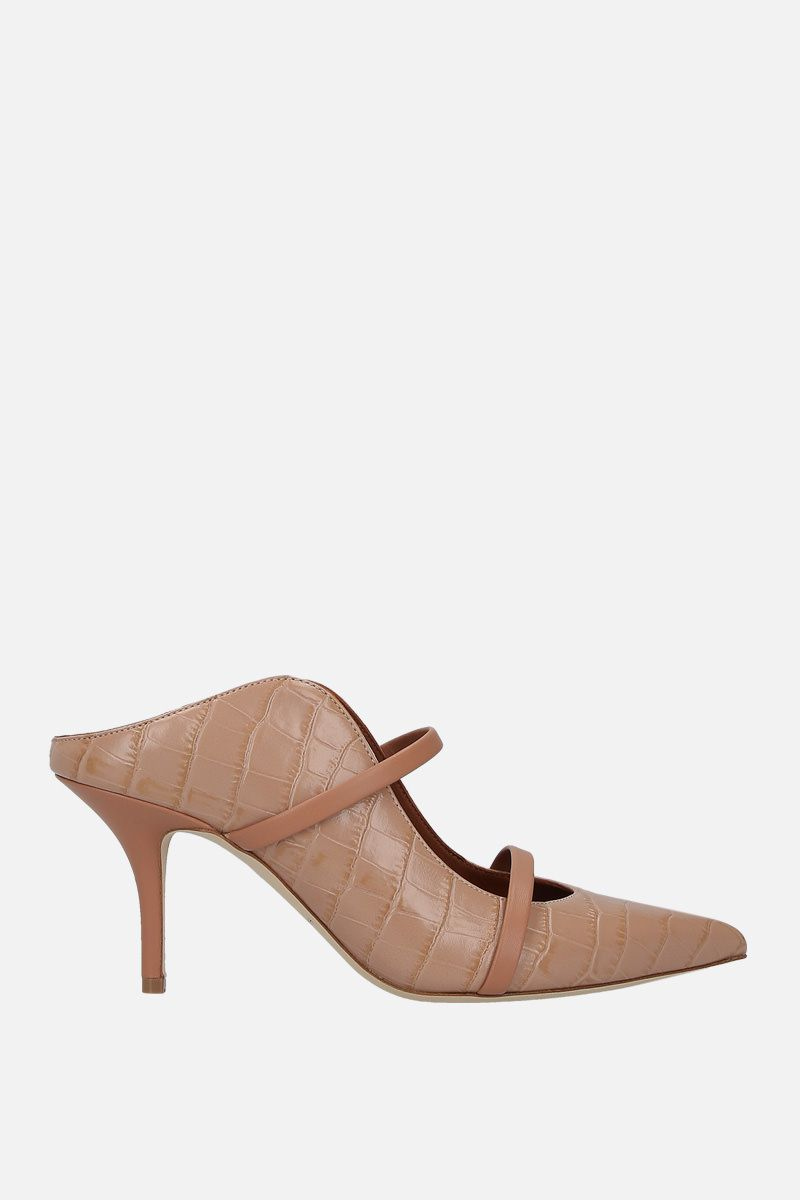 MALONE SOULIERS: mule Maureen in pelle stampa coccodrillo Colore Rosa_1