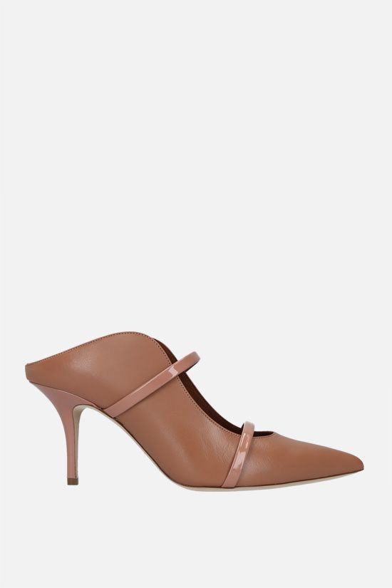 MALONE SOULIERS: Maureen nappa and patent leather mules Color Neutral_1