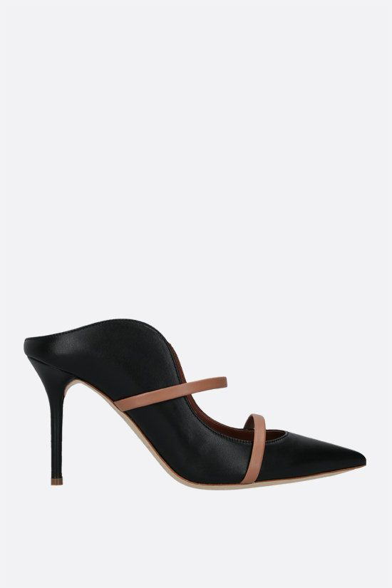 MALONE SOULIERS: Maureen bicolour nappa mules Color Black_1