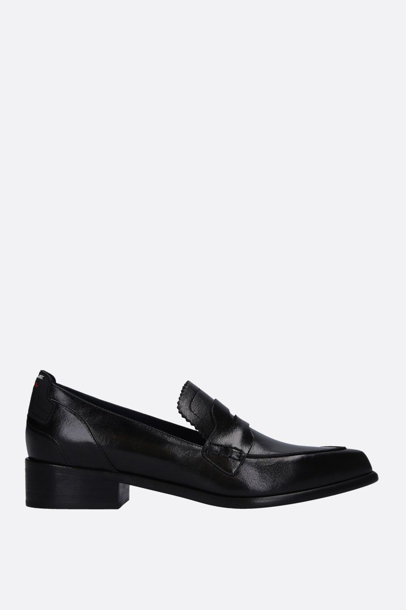 SPORTMAX: Solista loafers in shiny leather Color Black_1