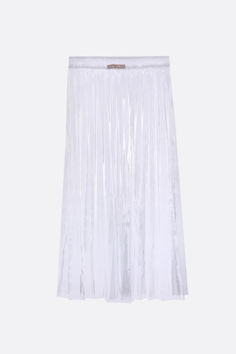 SSHEENA: Glass pleated skirt in tranparent PVC Color Neutral_2
