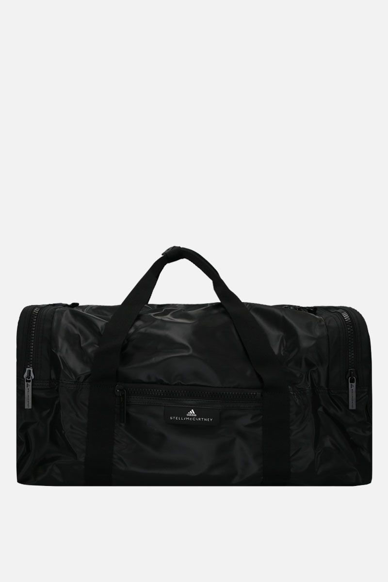 ADIDAS BY STELLA McCARTNEY: shiny nylon weekend bag Color Black_1