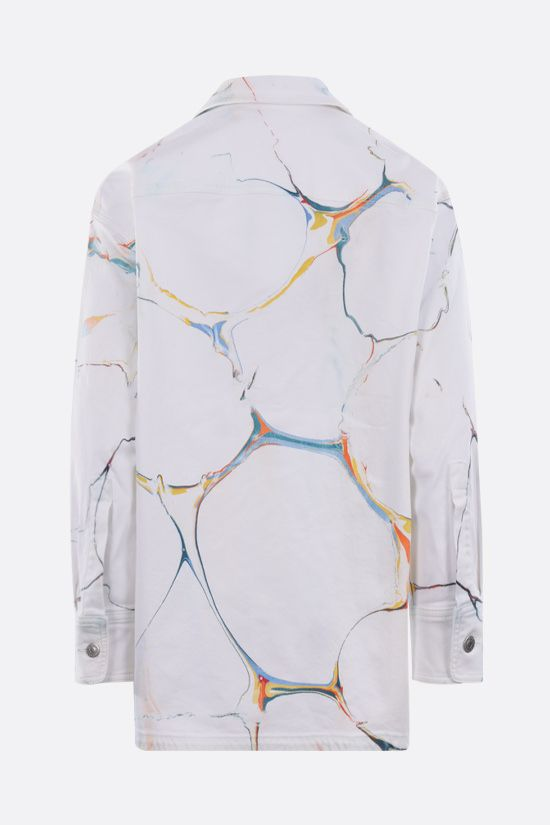 STELLA McCARTNEY: oversize denim overshirt Color White_2