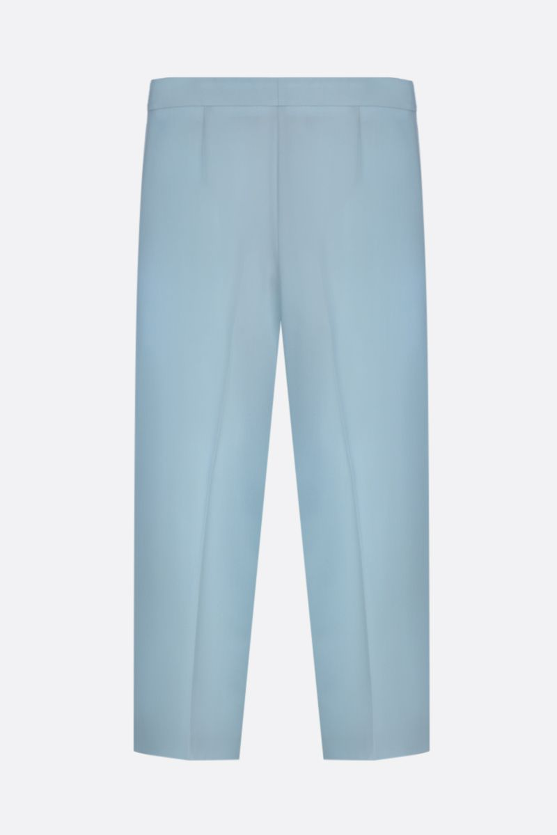 STELLA McCARTNEY: stretch wool cropped pants Color Blue_2