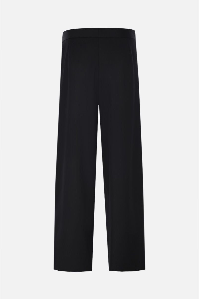 STELLA McCARTNEY: embroidered ribbon-detailed wool cropped pants Color Black_2