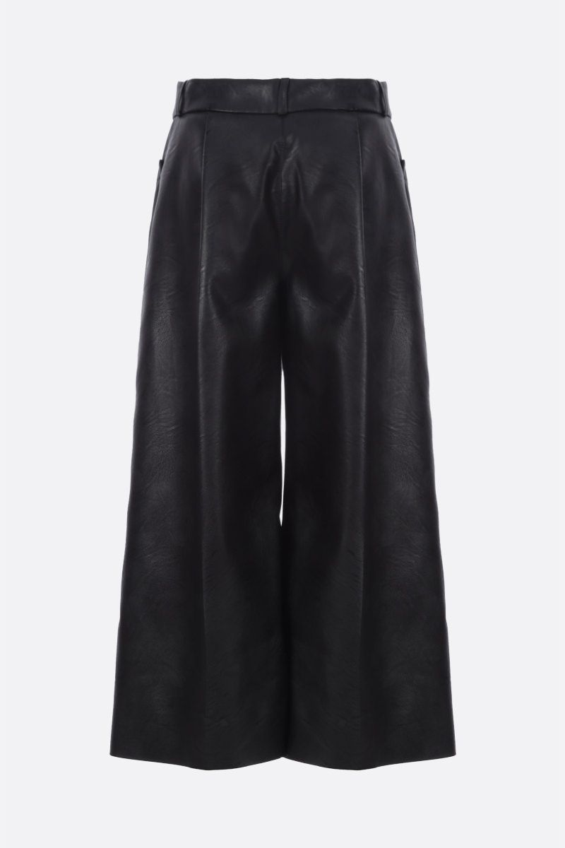 STELLA McCARTNEY: Charlotte faux leather culottes Color Black_2