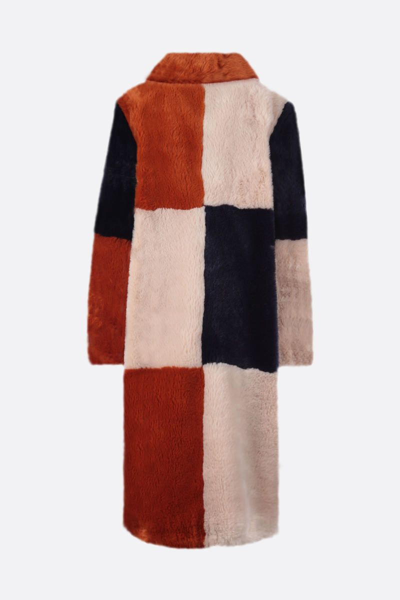 STELLA McCARTNEY: cappotto monopetto Adalyn in ecopelliccia Colore Neutro_2