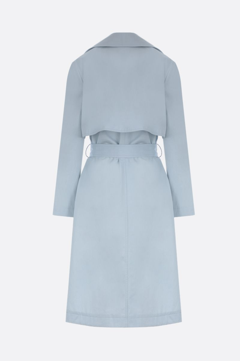 STELLA McCARTNEY: logo-detailed cotton single-breasted trench coat_2