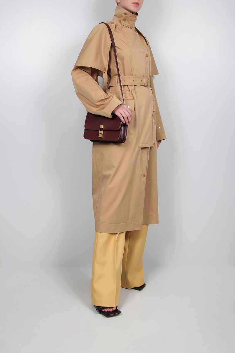 STELLA McCARTNEY: Stacey stretch cotton trench coat Color Neutral_2